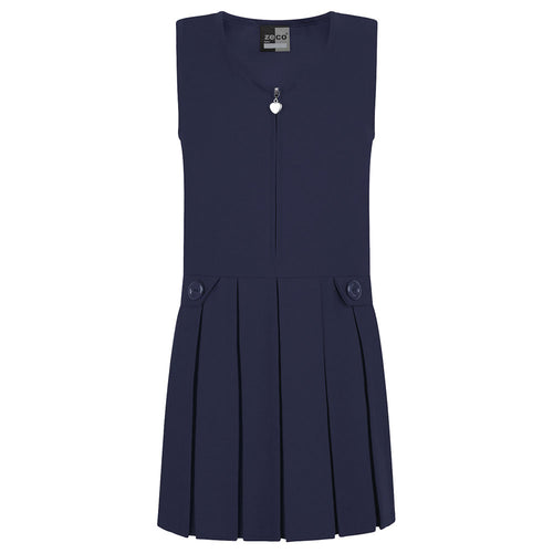 Navy Zip Front Pinafore