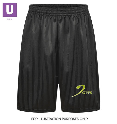 Gateway Primary Black P.E. Shorts with logo