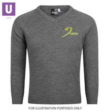 Load image into Gallery viewer, Gateway Primary Knitted V-Neck Jumper with logo