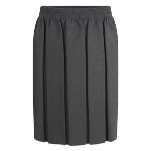 Girls Grey Box Pleat Skirt