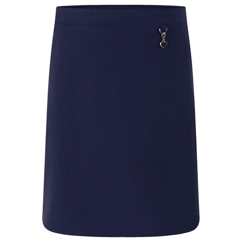 Navy Lycra Heart Skirt