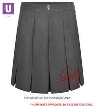 Load image into Gallery viewer, St Cleres Stitched Down Box Pleat Skirt
