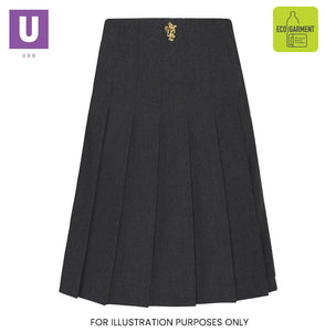 St Clere's Stitch Down Pleat Skirt with logo