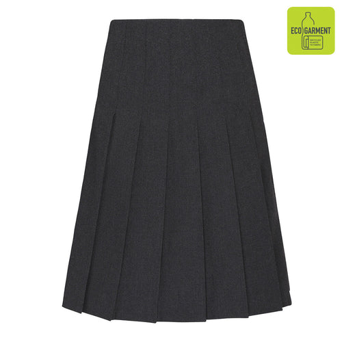 Grey Zeco Stitch Down Pleat Skirt