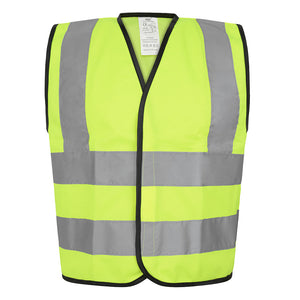 Yoko Kids Hi-Vis Two Band and Braces Waistcoat
