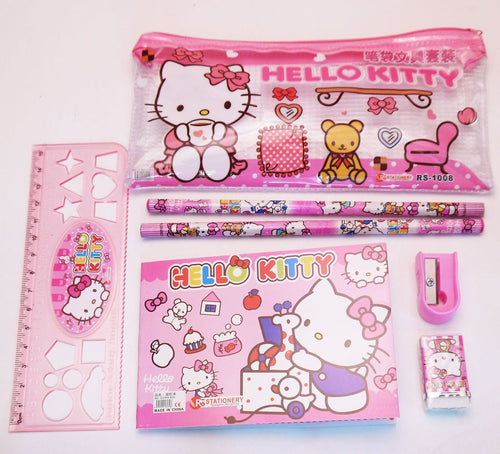 Hello Kitty Pencil Case Stationery Set