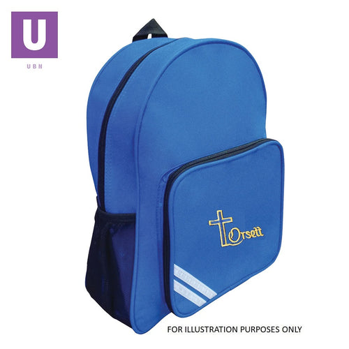 Orsett Primary Infant Backpack with logo