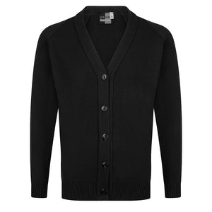 Girls Black Knitted Cardigan