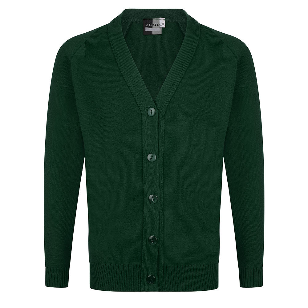 Bottle Green Knitted Cardigan