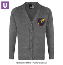 Load image into Gallery viewer, Belmont Castle Knitted Cardigan with logo