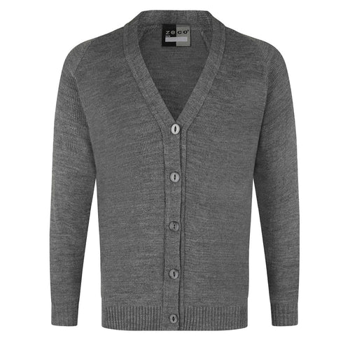 Girls Grey Knitted Cardigan