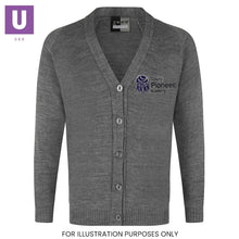 Load image into Gallery viewer, Tilbury Pioneer Knitted Cardigan with logo