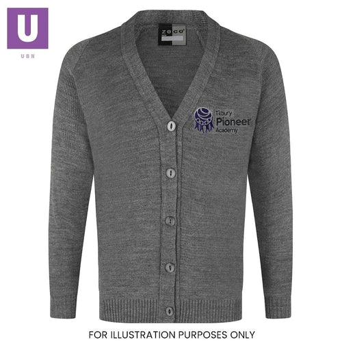 Tilbury Pioneer Knitted Cardigan with logo