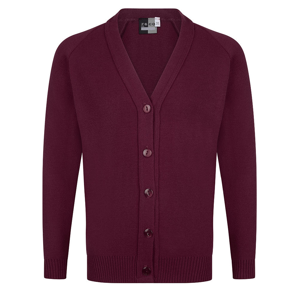 Burgundy Knitted Cardigan