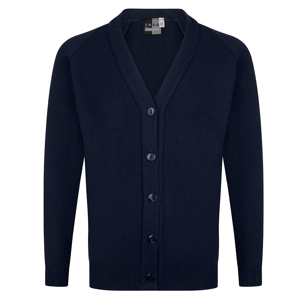 Girls Navy Knitted Cardigan