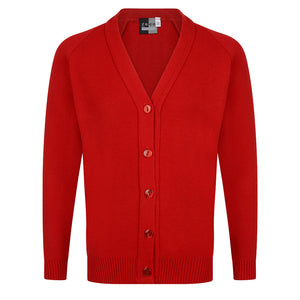 Girls Red Knitted Cardigan