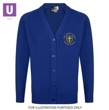 Load image into Gallery viewer, Holy Cross Primary Knitted Cardigan with logo