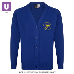 Holy Cross Primary Knitted Cardigan with logo