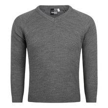 Load image into Gallery viewer, Unisex Knitted V-Neck Jumper