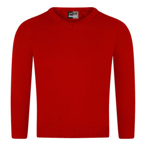 Unisex Knitted V-Neck Jumper