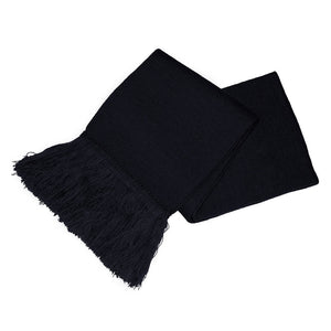 Black Unisex Knitted Scarf