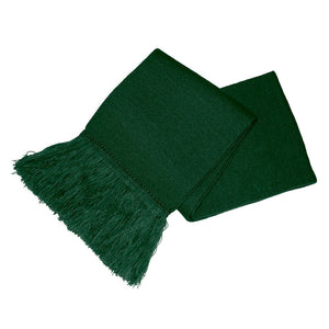 Bottle Green Unisex Knitted Scarf