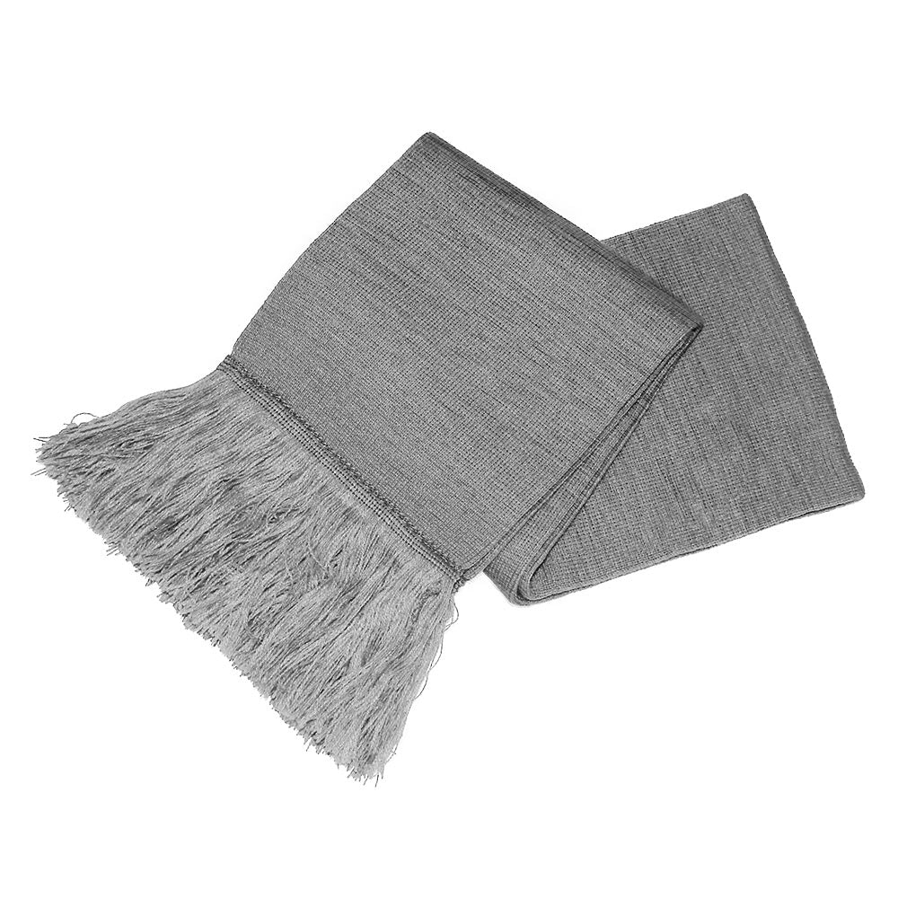 Grey Unisex Knitted Scarf