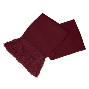 Burgundy Unisex Knitted Scarf