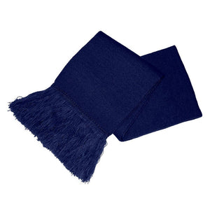Navy Blue Unisex Knitted Scarf