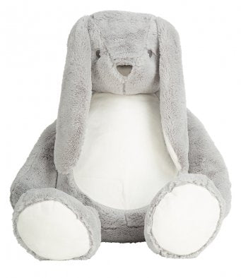 Mumbles Giant Grey Zippie Bunny Plush Toy