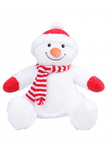 Mumbles Zippie Snowman Plush Toy