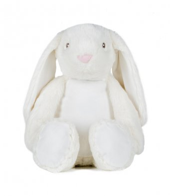 Mumbles Large Cream Zippie Bunny Plush Toy