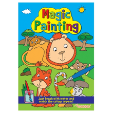 Load image into Gallery viewer, Squiggle Lion & Cats Magic Painting Book - Just use water!