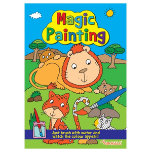 Squiggle Lion & Cats Magic Painting Book - Just use water!