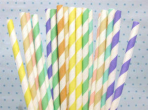 Colourful Fun Paper Drinking Straws