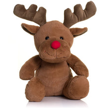 Load image into Gallery viewer, Mumbles Red Nose Reindeer Plush Toy