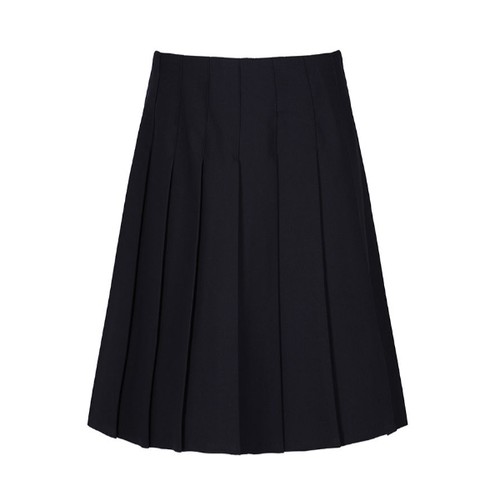 Navy Trutex Stitch Down Pleat Skirt