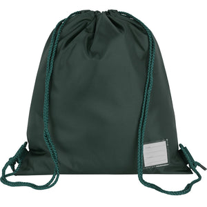 Bottle Green School Premium Plain P.E. Bag
