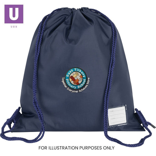 East Tilbury Primary Premium P.E. Bag with logo
