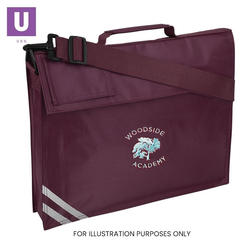 Woodside Academy Premium Book Bag with logo