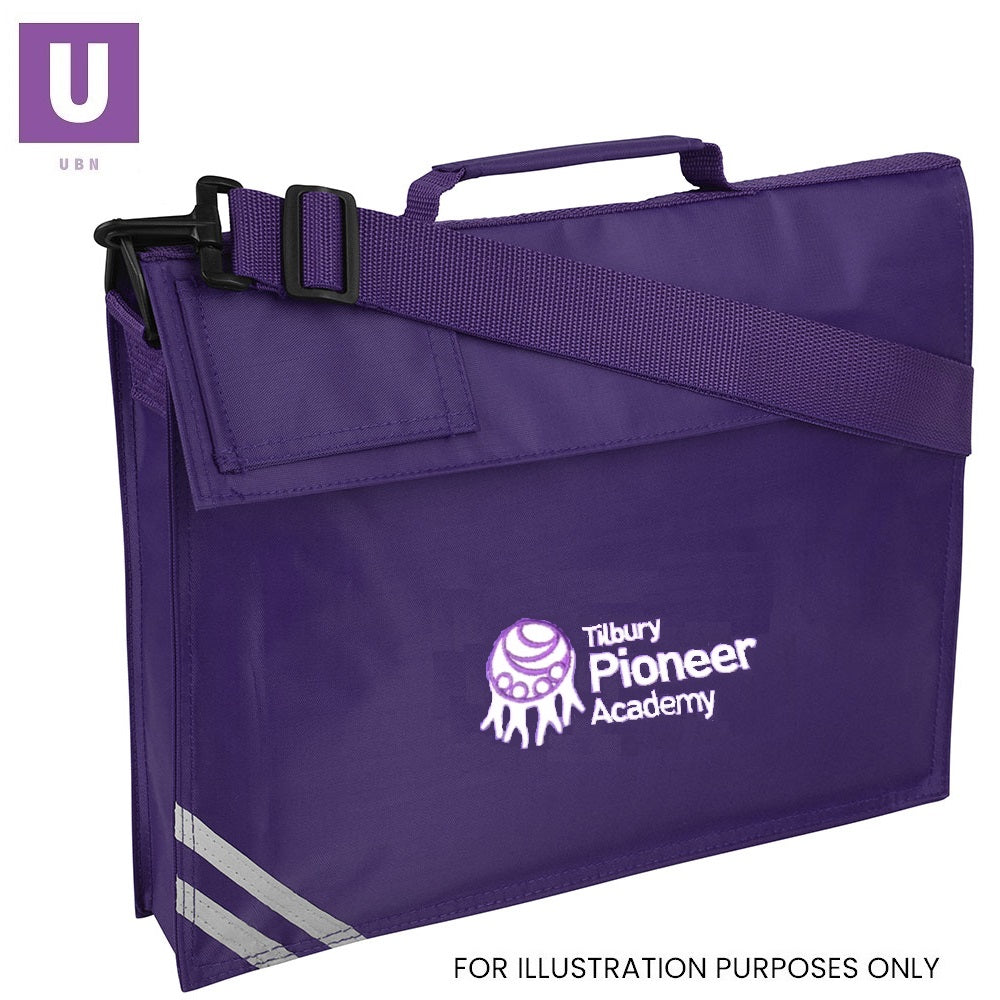 Tilbury Pioneer Premium Book Bag with logo
