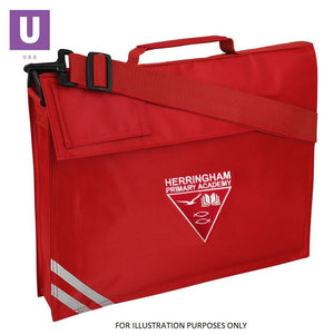 Herringham Primary Premium Book Bag with logo