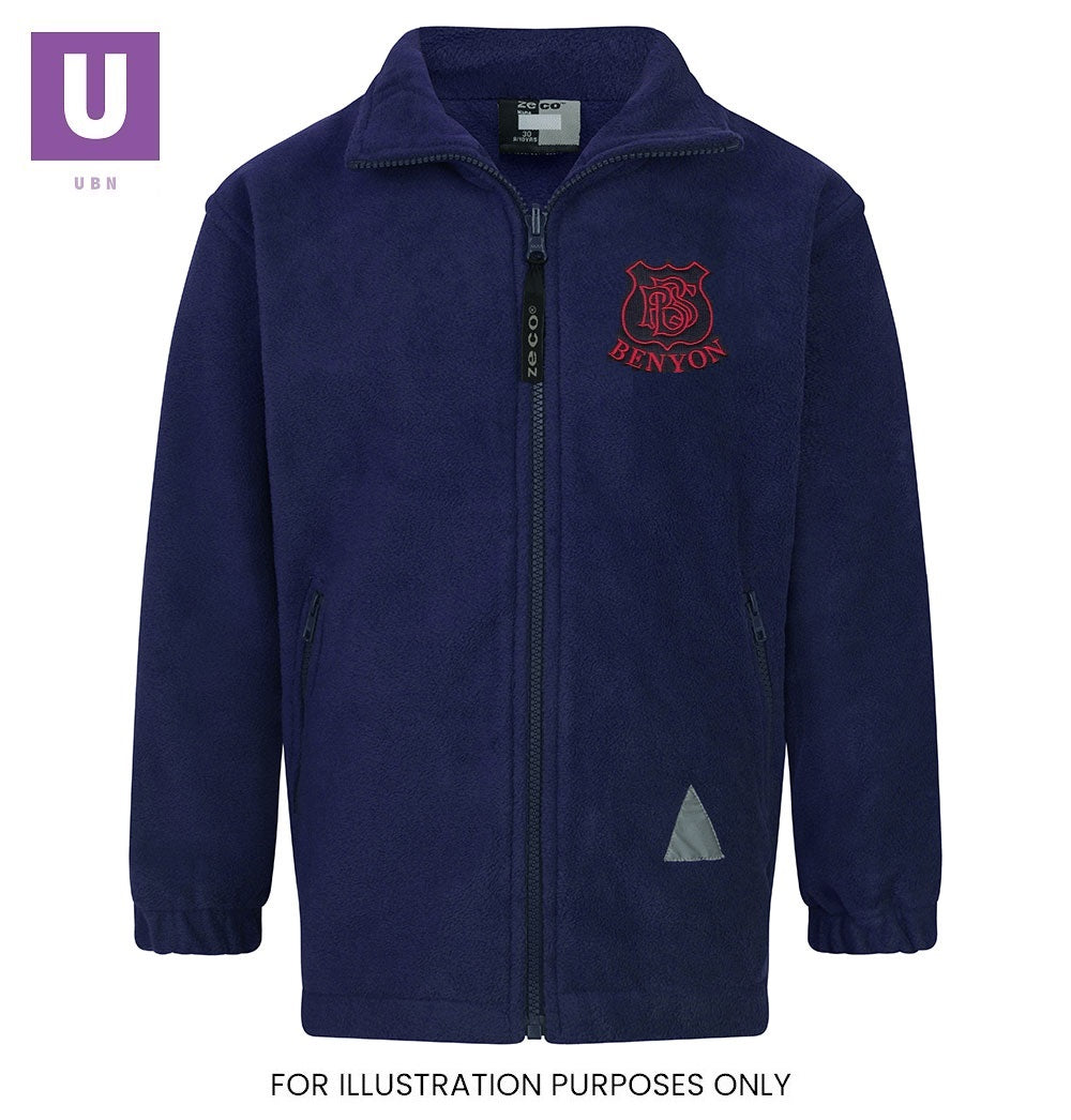 Benyon Primary Staff Polar Fleece Jacket with logo