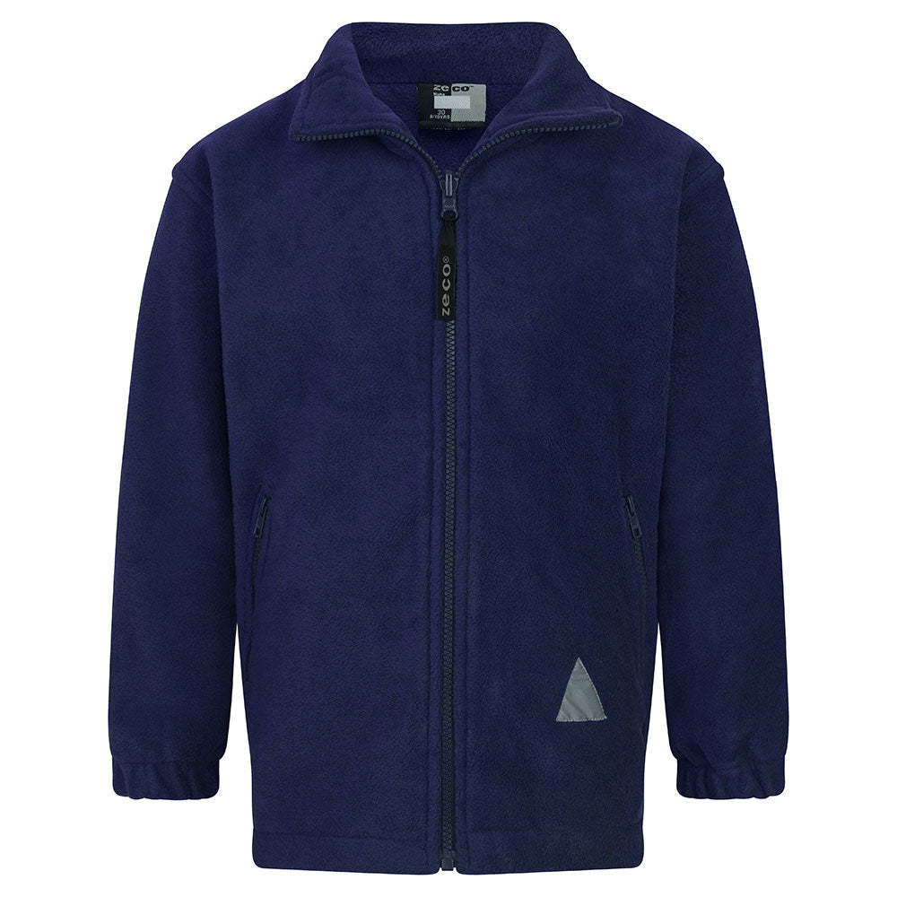 Navy Blue Polar Fleece Jacket