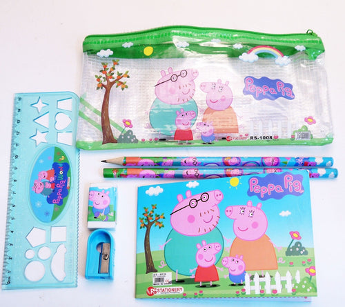 Peppa Pig Pencil Case Stationery Set