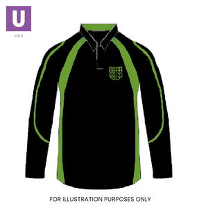 Thames Park Green 'Terra' Rugby Shirt with logo