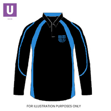 Load image into Gallery viewer, Thames Park Blue 'Aqua' Rugby Shirt with logo