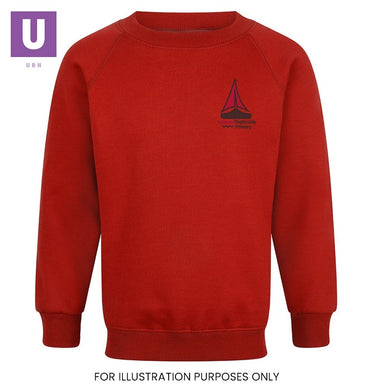 Thameside Primary Crew Neck Sweatshirt with logo