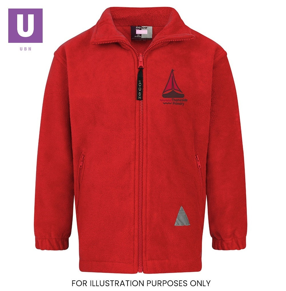Thameside Primary Polar Fleece Jacket with logo