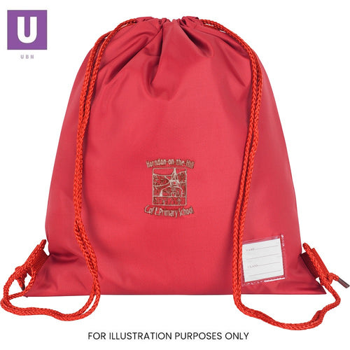 Horndon-on-the-Hill Primary Premium P.E. Bag with logo